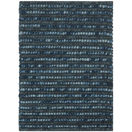 Safavieh Bohemian Collection BOH525G Hand-knotted Dark Blue and Multi Hemp and Jute Area Rug, 3 feet by 5 feet (3' x 5')