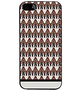 PrintDhaba Pattern D-1116 Back Case Cover for APPLE IPHONE 5S (Multi-Coloured)