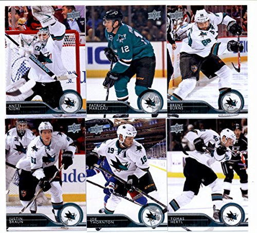 2014/15 Upper Deck Hockey Team Set (Veterans)- San Jose Sharks (14 Cards)> Joe Pavelski,Logan Couture,Tommy Wingels,Jason Demers ,Marc Edouard Vlasic,Matt Nieto,Matt Irwin,Alex Stalock,Brent Burns,Patrick Marleau,Antti Niemi,Tomas Hertl,Joe Thornton,Justin Braun (Tomas Braun compare prices)