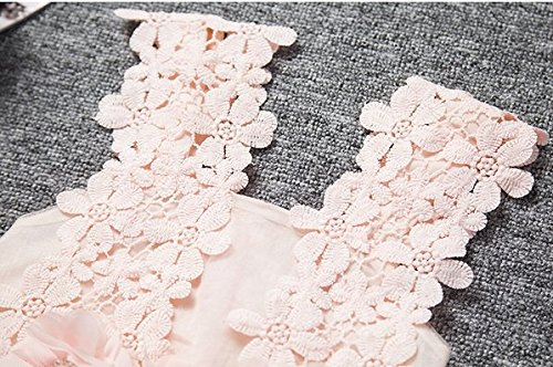Baby Girls Sleeveless Lace Wedding Vintage Birthday Party Princess Flower Dress 2