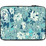 Snoogg Blue Floral Pattern 2481 13 To 13.6 Inch Laptop Netbook Notebook Slipcase Sleeve