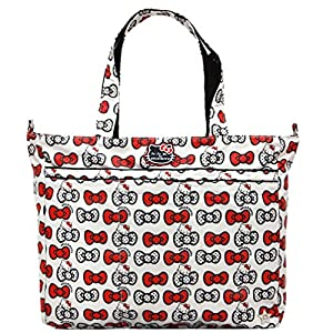 Bundle -3 Items:Ju-Ju-Be Super Be Tote Diaper Bag -Hello Kitty Peek A Bow & Bella B Honey Bum 2 oz & Bella B Babywipes 50 count from Ju-Ju-Be + Bella B