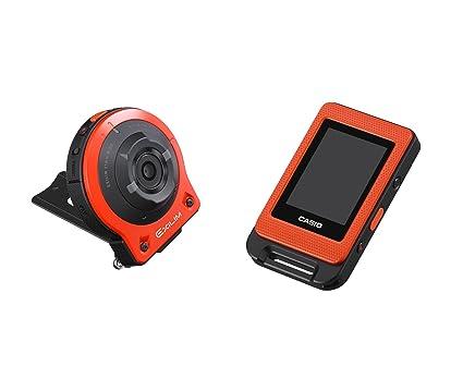 Appareil photo numérique CASIO EXILIM 14,1 millions de pixel appareil photo appareil / séparation de contrôleur caméra libre d'Orange EX-FR10EO