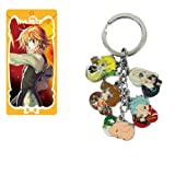 Nanatsu No Taizai Seven Deadly Sins Metal Figures Pendant Keychain Charms Key Ring (Color: COLORED, Tamaño: small)