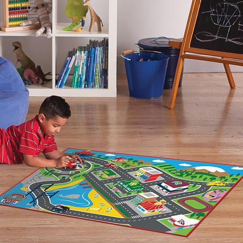 Nick Jr Paw Patrol Adventure Bay Game Rug Includes Marshalls Fire Truck    New For 2015