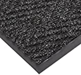 "NoTrax T40 Chevron Heavier Weight Carpet Mat, for Wet and Dry Areas, 2' Width x 3' Length x 5/16"" Thickness, Charcoal"