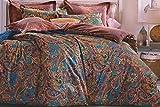 WRAP 100% COTTON DOUBLE BED DUVET SET (1 BEDSHEET 2 PILLOW COVERS & 1 DUVET COVER) CNSD-12