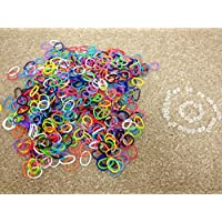 Amazing Loom Rubber Bands, 1,200 Pc. Solid Black Color, Rubber Band Mega Value Refill Packs, 6 Bags Of 300 Count...