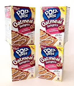 Pop-Tarts Oatmeal Delights Frosted Strawberry 14.1 Oz. (Pack of 4 ...