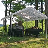 ShelterLogic 12 x 20- Feet Canopy 2- Inch 4-Rib Frame, White Cover