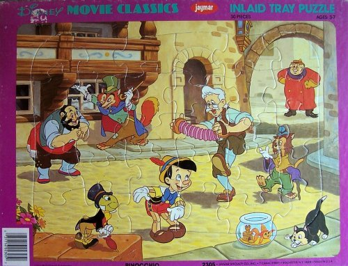 Disney Movie Classics Inlaid Tray Puzzle - PINOCCHIO - 1