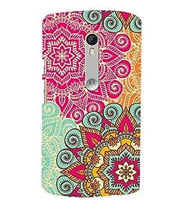 Rangoli Pattern Design 3D Hard Polycarbonate Designer Back Case Cover for Motorola Moto G3 :: Motorola Moto G (3rd Gen)