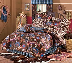 Amazon Com Full Domestications Yee Haw Rodeo Cowboy Bed