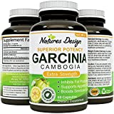 95% HCA - Pure Garcinia Cambogia Extract - Blocks Carb Absorption - Suppresses Appetite - Burns Fat - Natural Weight Loss Supplement for Men & Women - USA Made - 60  Capsules - By Natures Design