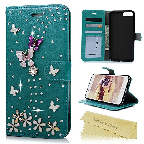 iphone-7-plus-case-55-inches-maviss-diary-3d-handmade-bling-wallet-flip-cover-sparkly-crystal-diamon