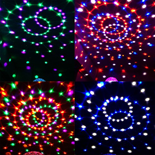 Kaleep New Version Crystal Sound Activated LED Stage Light, with DMX 512 Control a Must for Your Halloween Party, Christmas Party, Home Party, Birthday Party, Karaoke Party, Dance Party