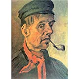 Art Panel - Head Of A Farmer With A Clay Pipe By Van Gogh