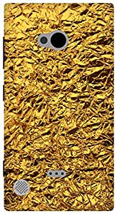 The Racoon Grip shiny foil gold hard plastic printed back case / cover for Nokia Lumia 720