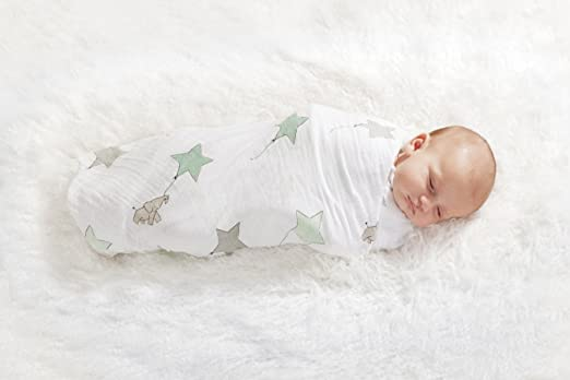 Amazon.com: aden + anais Classic Muslin Swaddle Blanket 4 Pack, Up, Up And Away: Baby