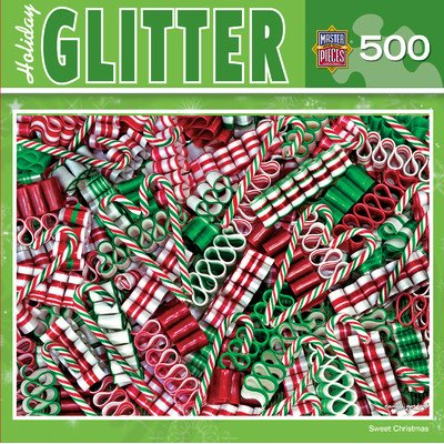 MasterPieces Holiday Glitter Sweet Christmas Jigsaw Puzzle, 500-Piece - 1