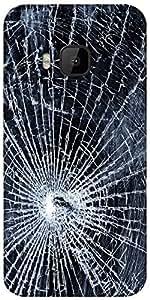 Snoogg Broken Screen Designer Protective Back Case Cover For HTC M9