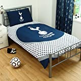 OFFICIAL Tottenham HotSpur FC Bullseye Single Reversible Duvet Cover Set (SPURSSD1)