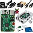 Raspberry Pi 2 Complete Starter Kit -- Includes Raspberry Pi 2 900 MHz Quad-Core CPU (1GB) -- Edimax EW-7811Un Wi-Fi Adapter--20 Page User Guide--Clear Case--Power Supply--Kingston 8GB Micro SD Card and Micro SD to SD Adapter--HDMI Cable and Heatsink