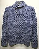 RRL / ダブルアールエル アラン編み ショールカラー 手編み セーター ドネガル羊毛使用 並行輸入品