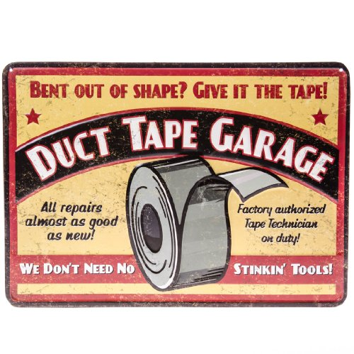 Duct Tape Garage Wall Sign Wall Decor