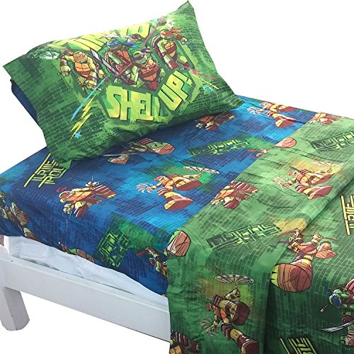 Teenage Mutant Ninja Turtles Shell Up 3pc Twin Bed Sheet Set (Ninja Turtles Bed compare prices)