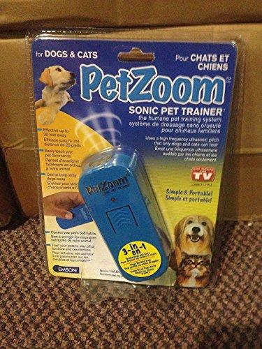 Emson Pet Zoom Pet Trainer Sonic Dog Whistle Ultrasonic