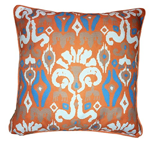 ikat-peafowl-feathers-geometric-pattern-design-moroccan-orange-turquoise-tiles-cushion-pillow-cover-