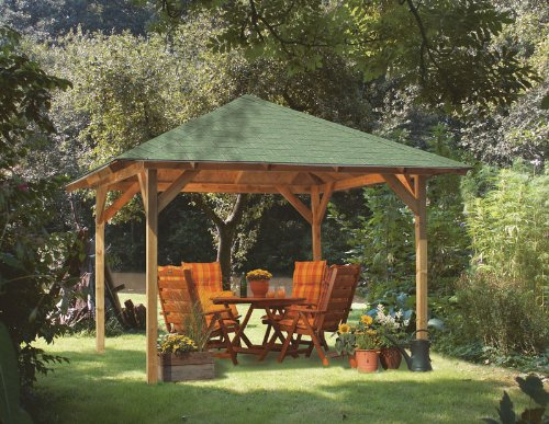 Holz Pavillon 6 Eckig Bauanleitung ~ pavillon karibu cordoba 4 eck holz pavillon promex pavillon marburg