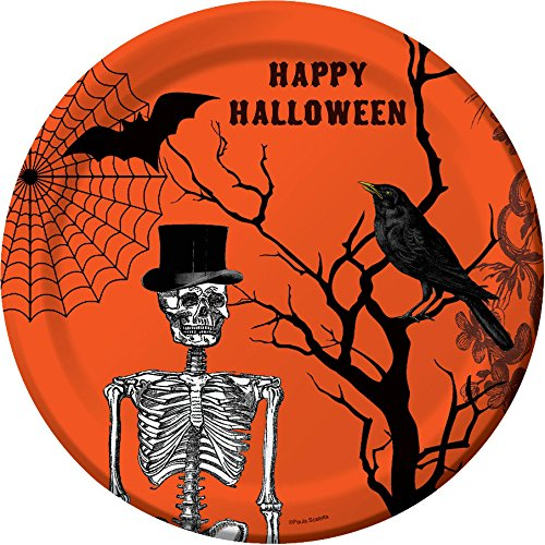 Halloween Spooky Scenes 9-inch Paper Plates 8 Per Pack