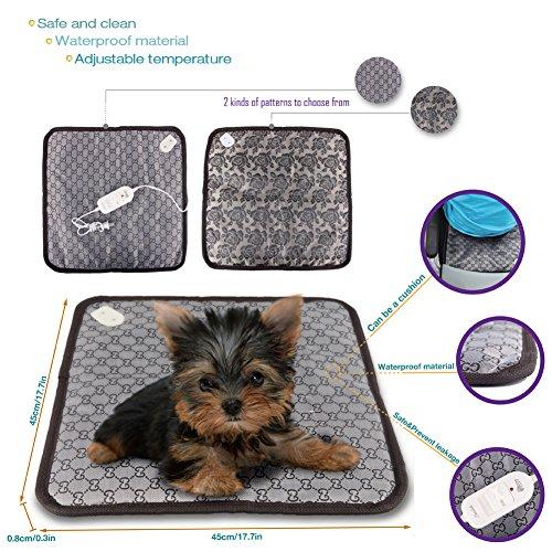 Dog Cat Pet Eelectric Cushion Pad Warm Mat Seat Bed Waterproof(Color Will Be Sent Randomly)