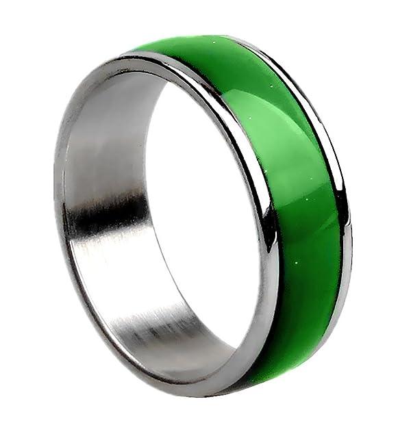 Arsmt Stainless Steel Mood Ring Titanium Endless Rainbow Colors ...