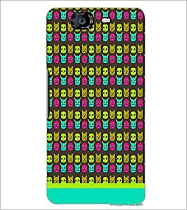 PrintDhaba Pattern D-1630 Back Case Cover for MICROMAX A350 CANVAS KNIGHT (Multi-Coloured)
