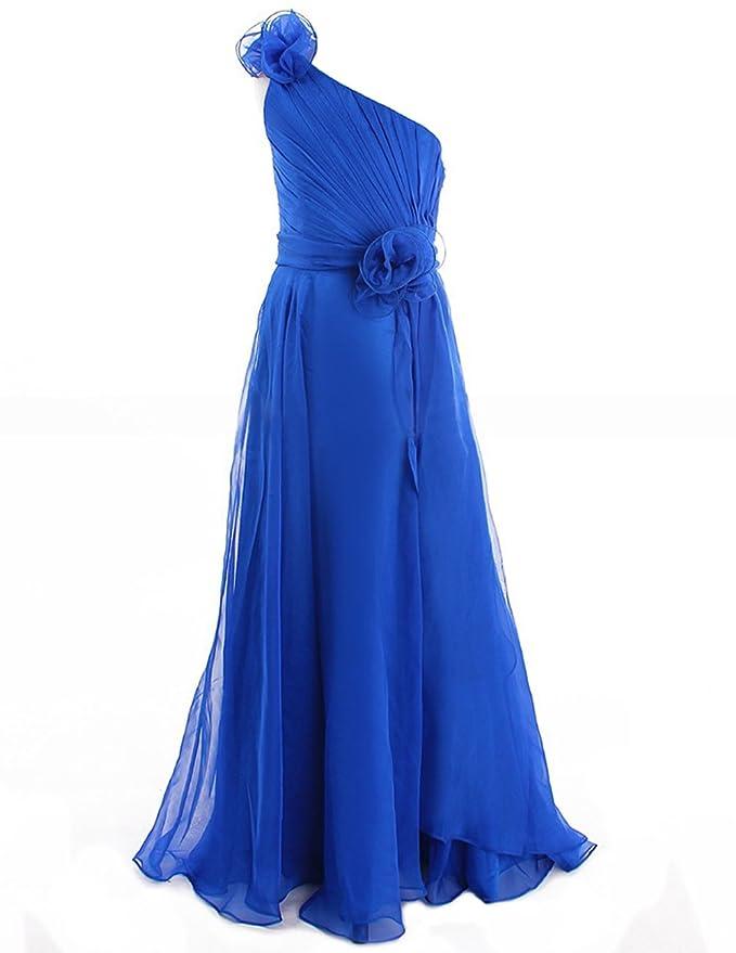 Fashion Plaza Girl's A-line Chiffon One Shoulder Flower Girl Dress for Wedding K0032