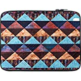 Snoogg Aztec Pattern Maroon Blue 12 To 12.6 Inch Laptop Netbook Notebook Slipcase Sleeve