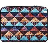 Snoogg Aztec Pattern Maroon Blue 12 To 12.6 Inch Laptop Netbook Notebook Slipcase Sleeve