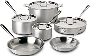 All-Clad MC2 700508 Stainless Steel Tri-Ply Bonded 10-Piece