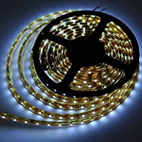 LEDwholesalers IP68 Fully Submersible Waterproof LED Flexible Strip with 300xSMD3528 5m Reel, White, 2028WH