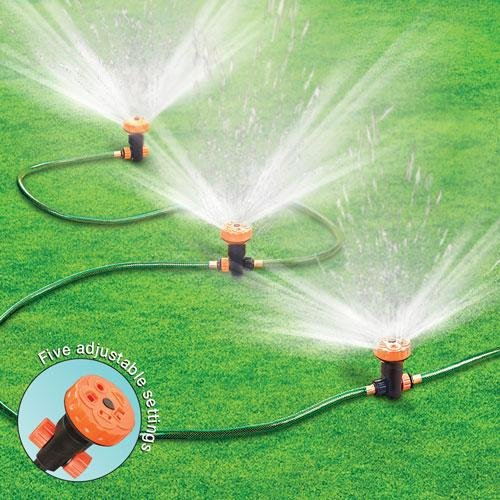 An above ground sprinkler system to water your lawn on a frequent basis infobarrel for Portable watering tanks for gardens