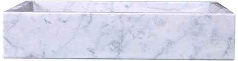 Virtu USA VST-2047-BAS Eros Vessel Sink with Natural Bianco Carrara Marble