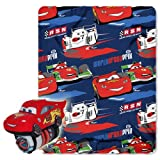 Disney, Cars 2, Acceleration 40-Inch-by-50-Inch Fleece Blanket with Character Pillow by The Northwest Company
