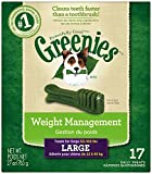 GREENIES Weight Management Dental Chews Large Dog Treats - Treat TUB-PAK Package 27 oz. 17 Count