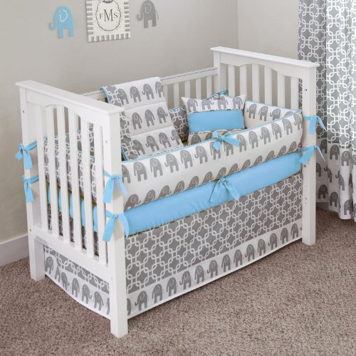 Blue And Gray Nursery Bedding Images