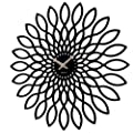 Karlsson MDF Sunflower Wall Clock, Black