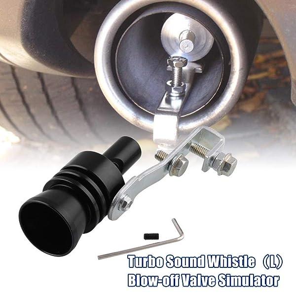 Turbo Sound BlowOff Simulator Valve Car Exhaust Muffler Pipe Whistle XL Black