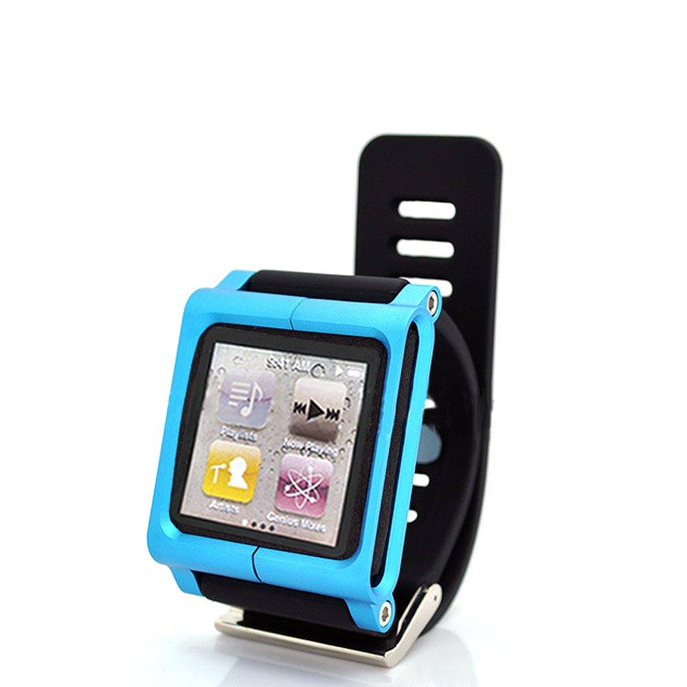 Rasse® LunaTik Muti-touch Watch Band Wrist Strap bracelet for iPod Nano6 Rubber Aluminu цена и фото